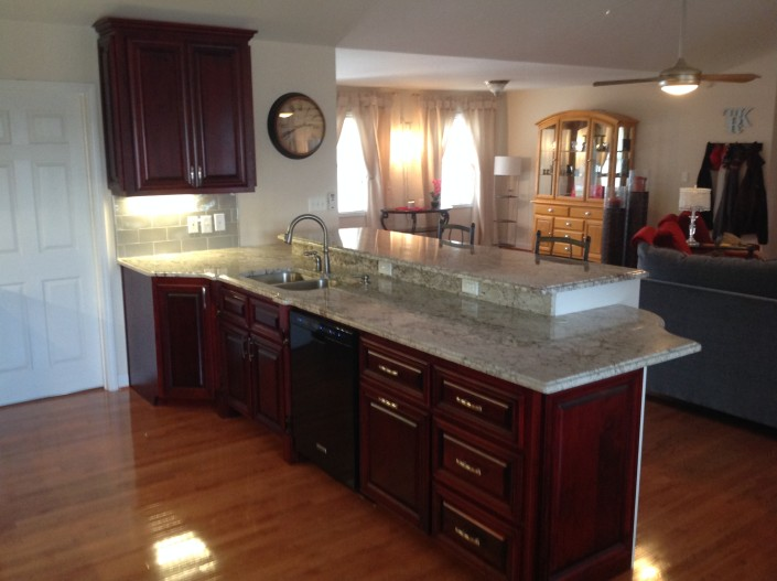 Alcorn's Custom Woodworking kitchen project